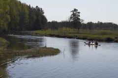 Kajak op rivier royalty-vrije stock foto