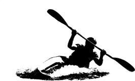 Kajak på en vit bakgrund royaltyfri illustrationer