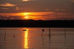 Kajak på sjön. Royaltyfri Bild