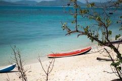 Kajak på stranden Royaltyfri Fotografi
