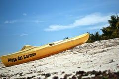 Kajak in Playa del Carmen Stock Foto's