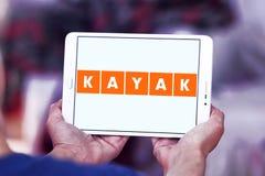 KAJAK podróży firmy logo Zdjęcie Stock