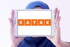 KAJAK podróży firmy logo Obraz Royalty Free