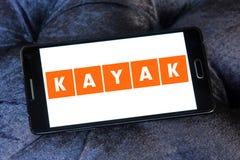 KAJAK podróży firmy logo Obraz Stock