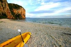 kajak przygotowywający morze fotografia stock