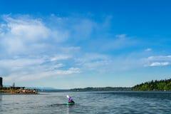 Kajak Puget Sound su Budd Inlet immagine stock libera da diritti