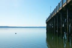 Kajak-Punkt-Pier Stockbild