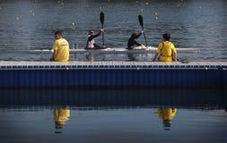 Kajak-Rennen Lizenzfreies Stockfoto