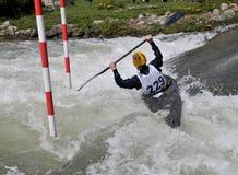 Kajak sui rapids Immagine Stock Libera da Diritti