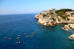 Kajak sul mare adriatico Fotografia Stock Libera da Diritti