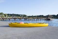 Kajak sulla spiaggia Immagine Stock