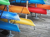 Kajak variopinti sul bacino di Baltimora Immagini Stock