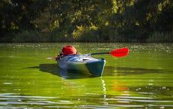 Kajak w otwartej wodzie Fotografia Royalty Free