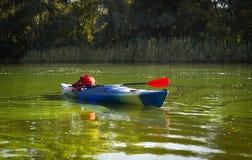Kajak w otwartej wodzie Zdjęcie Royalty Free