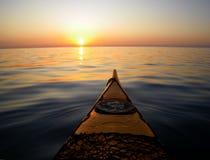 kajaka morze Obrazy Royalty Free