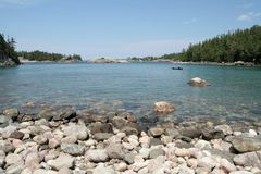 kajakarki park prowincjonału jeziora superior Zdjęcia Royalty Free