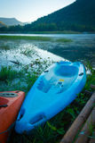 Kajaki na jeziorze Obraz Royalty Free