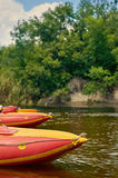 Kajaki na małej rzece Obraz Stock