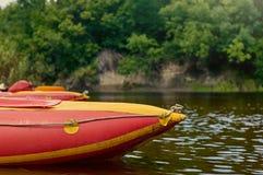 Kajaki na małej rzece Zdjęcie Royalty Free