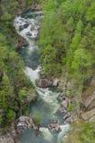 Kajaki na Toccoa rzece Pod spadkami Obraz Royalty Free
