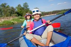 kajaki rzeki Zdjęcie Royalty Free