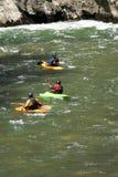 Kajaki w Noguera Pallaresa rzece Zdjęcia Royalty Free