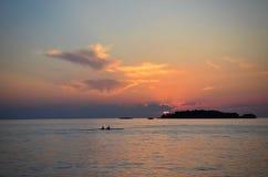 Kajakować w morzu śródziemnomorskim Fotografia Royalty Free