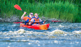 Kajakowa błyskawiczna rzeka Zdjęcie Stock