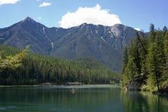 kajakowa panorama whiteswan lake Obraz Royalty Free