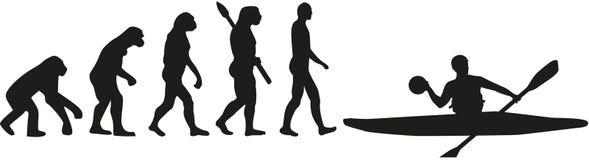 Kajakowa polo ewolucja ilustracja wektor