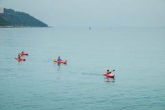 KAJAKOWE łodzie PRZY STANLEY HONG KONG Obrazy Royalty Free