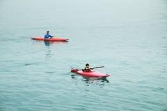 KAJAKOWE łodzie PRZY STANLEY HONG KONG Zdjęcia Stock