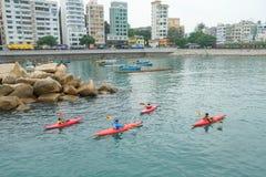 KAJAKOWE łodzie PRZY STANLEY HONG KONG Zdjęcie Stock
