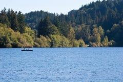 kajakowy rodzinny jezioro Obraz Royalty Free