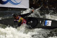 Kajakowy slalomu ICF puchar świata, Luuka Jones, Nowa Zelandia Zdjęcie Stock