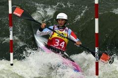Kajakowy slalomu ICF puchar świata, Michaela Hassova, Sistani Zdjęcia Royalty Free