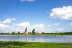 Kajaks auf Texas Lake stockfotos