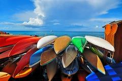 Kajaks coloridos Imagenes de archivo