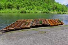 Kajaks op Dunajec Stock Foto