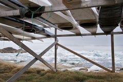 Kajaks por el mar Fotografía de archivo libre de regalías