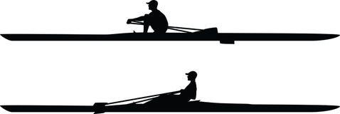 Kajakschattenbildvektor Stockbilder