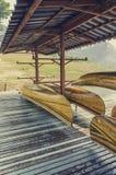 Kajakskeppsdocka Arkivbild