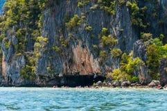 Kajakujący przy Phang Nga zatoką, Tajlandia Zdjęcia Royalty Free