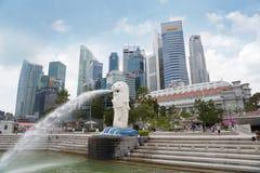 Kajen Merlion parkerar i Singapore Fotografering för Bildbyråer