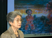 Kajimoto Yoshiko nuclear bomb survivor Stock Images
