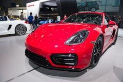 Kajman GTS od Porsche super samochodu w samochód wystawie Obraz Stock