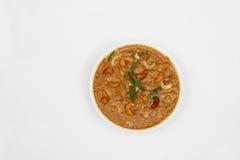 Kajukerrie - Indisch voedsel Stock Fotografie