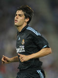 Kaka. Brazilian player Kaka of Real Madrid in action during a Spanish League match against RCD Espanyol at the Estadi Cornella-El Prat on September 12, 2009 in Royalty Free Stock Image