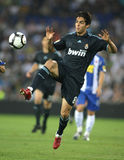 Kaka. Brazilian player Kaka of Real Madrid in action during a Spanish League match against RCD Espanyol at the Estadi Cornella-El Prat on September 12, 2009 in Stock Image