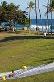 Kaka'ako strand parkerar Arkivbilder